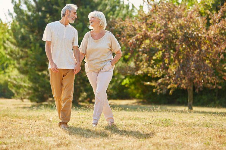 seniors going on a walk